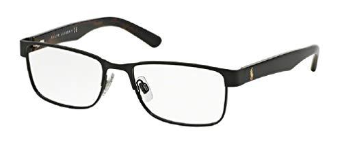 Polo Ralph Lauren PH1157 9038 55M Matte Black Rectangle Eyeglasses For Men+FREE Complimentary Eyewear Care Kit