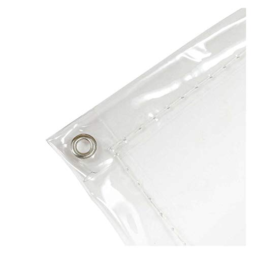 WZNING Tarra de Cubierta Impermeable Transparente, Tela de Refugio de Lluvia, Cortina de Lluvia Neta antirrobo, Tela de Lluvia al Aire Libre PVC Transmisión de luz Alta Durable y Protector