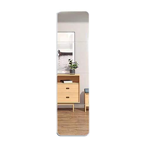 姿見鏡 全身鏡 4枚セット 割れない 貼る鏡 DIY鏡 枠無し スタンド ガラス ミラー ダンス鏡 自由組合鏡 取り付け簡単 お風呂 洗面台 玄関 26*26cm
