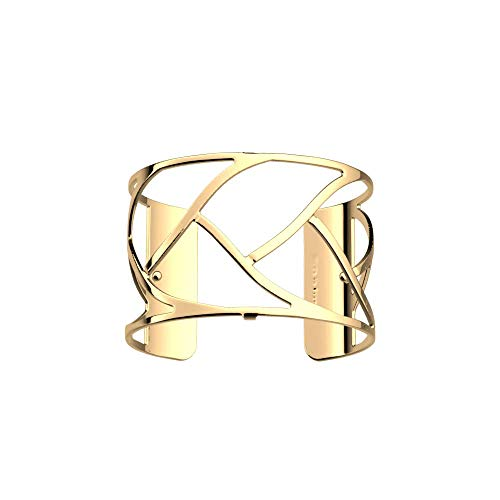 Les Georgettes Damen Armreif - Les Essentielles Tresse Zopf - Medium, Farbe:Gold, Armreif-Breite:40mm