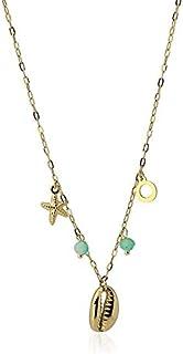 Anartxy Collar de Colección Stone & Shell con Piedras y Colgantes de Forma Concha Para Mujer de Acero, Mejor Regalo
