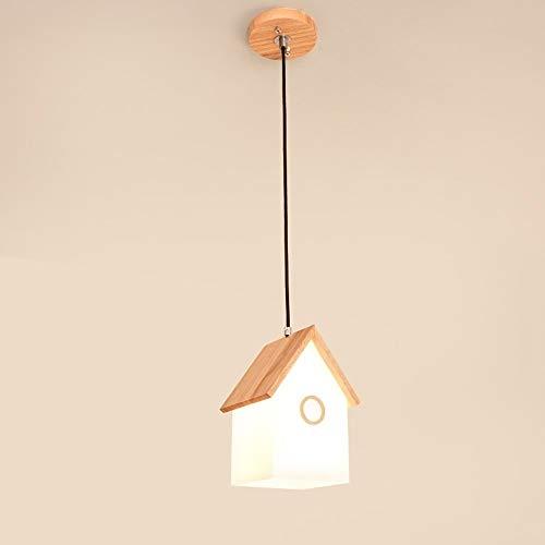 Lyuez massief houten eetkamer decoratieve lamp creatieve studie slaapkamer warme plafondlamp modern eenvoudige driehoofd eettafel LED plafondlamp verstelbaar