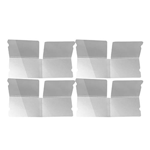 Cabilock 4-teiliger Aufbewahrungshalter für zusammenklappbare Masken Tragbarer Aufbewahrungsclip für Masken Kreative Aufbewahrungsbox Transparenter Behälter (Transparent)