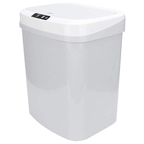 Huachaoxiang 15 L De Basura Cubo De Basura del Sensor, Contacto Automático Inteligente Movimiento De Inducción para Los Hoteles En Cocinas Oficinas,Blanco