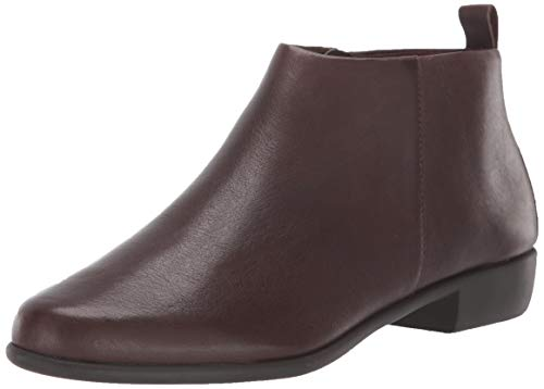 Aerosoles Women's Step IT UP Ankle Boot, Brown Leather, 10 W US