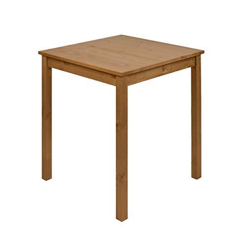 hagge home Skandinavisch Holz Esstisch Schreibtisch Küchentisch Computertisch PC Tisch Konsolentisch Homeoffice Esszimmertisch Wohnzimmertisch Arbeitszimmertisch 68x68 cm Höhe 75 cm, Braune