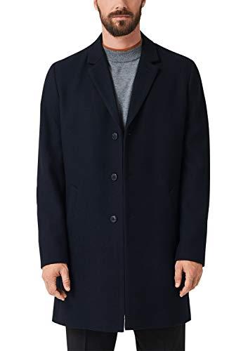 s.Oliver BLACK LABEL Herren 12.910.52.3309 Mantel, Blau (Dark Navy Melange 59w1), Medium (Herstellergröße: 48)