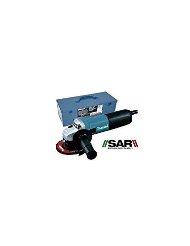 MAKITA 9557NBRK1 Miniamoladora 840w 115mm anti-restart maletín + acc, Multicolor