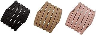 Utkarsh (Set Of 3 Pcs) Retractable Thin Fashion Portable Travel Pocket Non Slip Toothed Comb Yoga Sports Hair Hoop Wrap Fo...