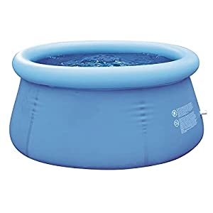 PSOIHGTFS Piscina sobre Suelo de fácil instalación 6ft, con Bomba de Aire- Redonda Nadar Piscina- 1500 litros- 180 x 73 cm, hasta Cinco Personas,Azul
