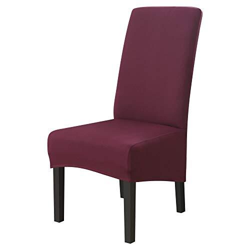 RRTY - Coprisedia per ristorante, copertura per sedia, per hotel, banchetto, in elastan, 4 pezzi, colore: rosso fagiolo