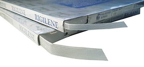 Eloja® Corsage Verstärkung Rigilene Boning Breite 12 mm Transparent Polyester 46 Meter leicht einnähbar für trägerlose Kleider, Abendkleider, Taschen, Hüte