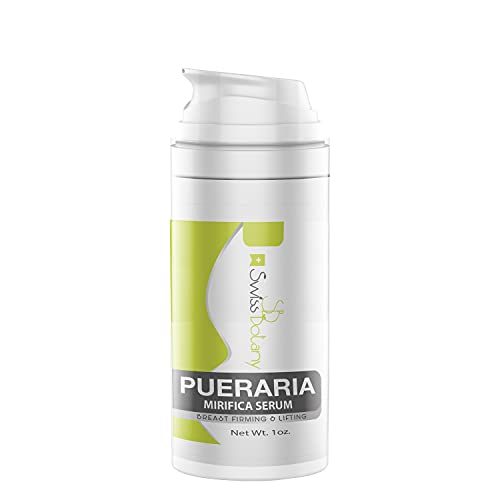 Pueraria Mirifica Bust Firming & Lifting Serum, Premium Made by Swiss Botany for Women and Men, Easy to Apply, Use Twice a Day for Best Results, 1 ounce