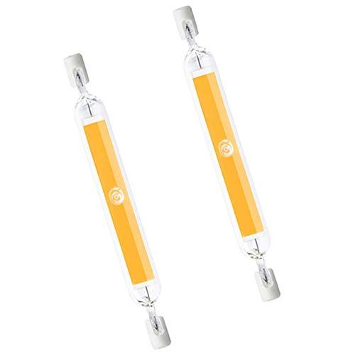 CNMJI Dimmbare R7S LED 118mm COB Filament Glühbirne Lampe Glas Rohr 10W Ersetzen 100W Halogen Lampe 1000LM, 360-Grad-Licht, Kein Flimmern für Wandleuchte, 2er-Pack,Natural White,110V~140V