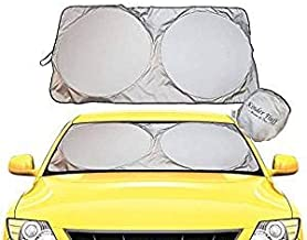 Windshield Sun Shade - 210T Fabric Highest in The Market for Maximum UV and Sun Protection –Foldable Sunshade for car Windshield Will Keep Your car Cooler- Windshield Sunshade (Standard)