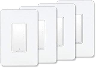 Smart Switch by MartinJerry | Compatible with Alexa, Smart Home Devices Works with Google Home, No Hub required, Easy installation and App control as Smart Switch On/Off/Timing, Single Pole (4 Pack)