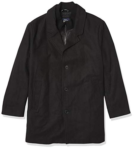 Dockers Men's The Henry Wool Blend Top Coat, Black, Large