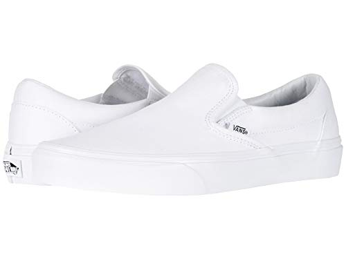 Vans Unisex Adults' Classic Slip On Trainers True White - Slip-On 7.5 M US Women / 6 M US Men
