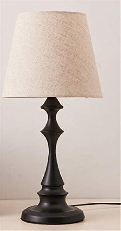 Moderne minimalistische tischlampe schmiedeeisen tuch abdeckung hotelzimmer studie nachttischlampe american nordic mit schalter
