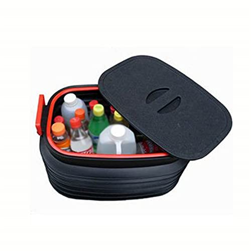 Upupto Car Folding Trash Collapsible Water Fishing Bucket Outdoor Camping Garbage Plastic Bucket Storage Box Container,18L