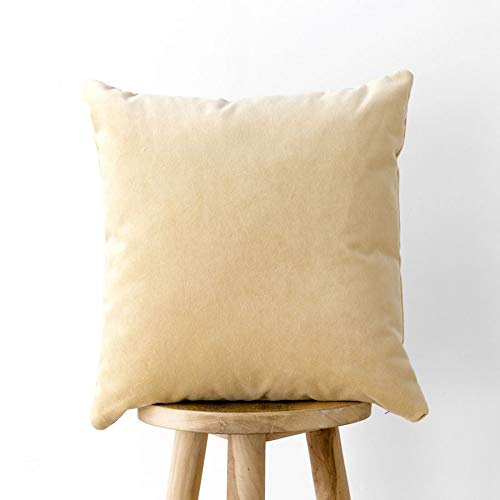 Kenay Home Cojín Velvet, Amarillo, 45x45cm