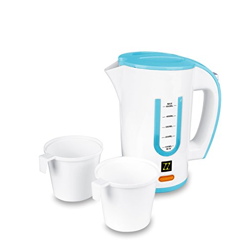 ZZ T368 Dual Voltage Travel Electric Kettle with 0.5 Liter Water Tank Capacity 1000-Watt, Blue
