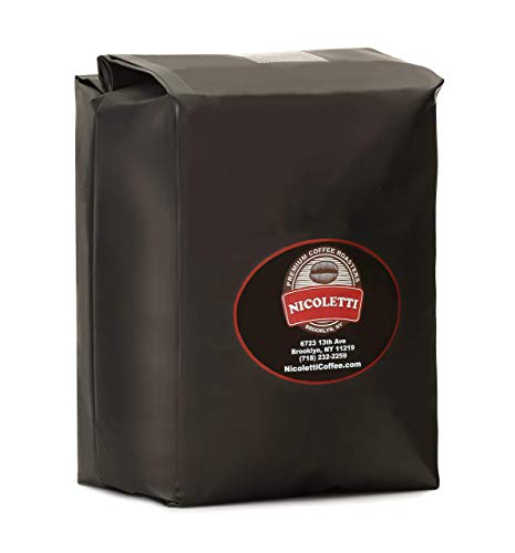 Nicoletti Coffee Espresso Roast Beans 5lb(Made in Brooklyn NY since 1972)