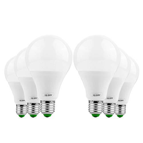 ZXJUAN E26/E27 LED gloeilamp 9 W vervanging 80 W halogeenlamp 5730 SMD energiebesparend daglicht voor keuken en woonkamer, restaurants en horeca, kantoorverlichting (6-pack) reservelamp