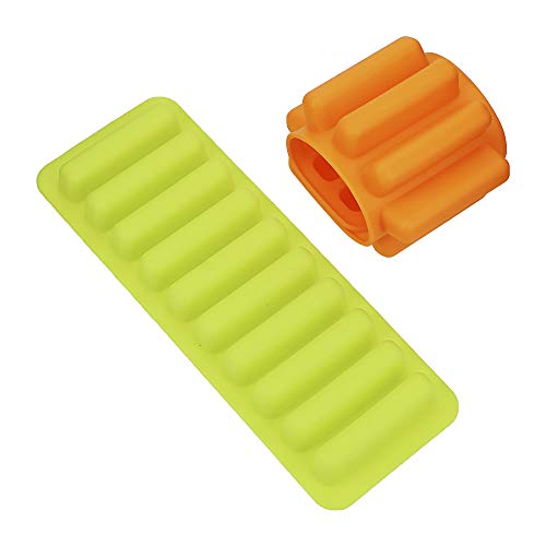 iTimo - Molde de silicona para la mayoría de botellas de agua de soda, cubitos de hielo, cubitos de hielo, herramienta de cocina, molde para palos de hielo (verde)