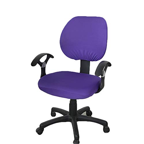 Office Chair Back Cover, Computer Office Chair Covers 2 Pcs Universal Computer Office Chair Backrest Cover Protective Stretchable Rotating Drafting Chair Slipcover