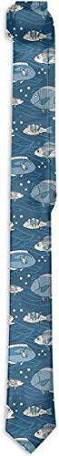 Funny Z Corbata de Hombre Pez de Mar Patrón de Dibujos Animados Corbatas de Seda de Moda Corbatas de Regalo Únicas