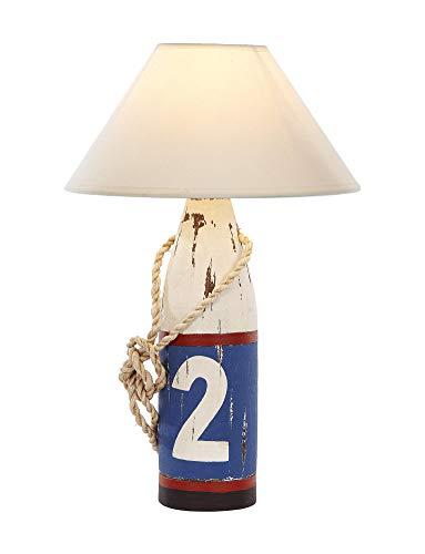 mare-me Lampe Holzboje 2 weiß blau rot