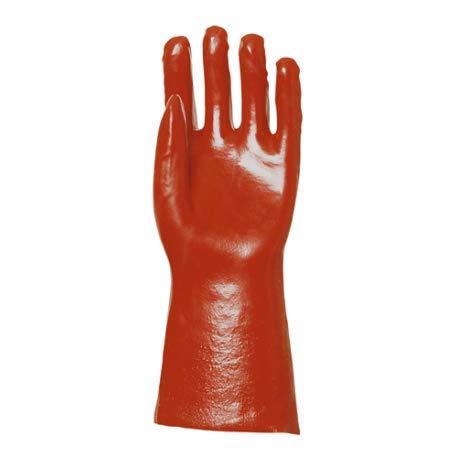 Gant coton enduction PVC rouge LG36CM T9 EURO PROTECTION 3619