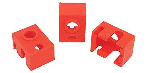 3Wthings 3 Stück 3D Drucker Silikon Socke E3D V6 PT100 Hotend/Heizblock, Orange