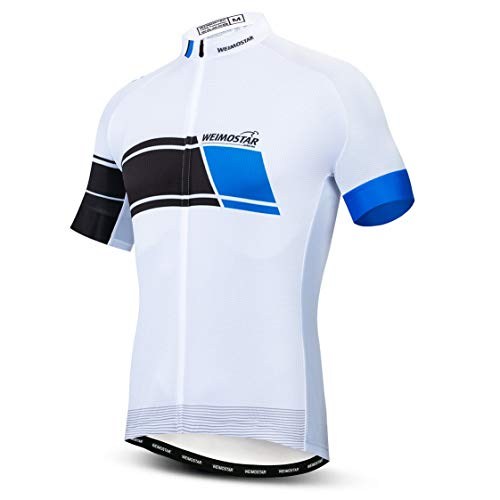Cycling Jersey Mens Mountain Bike Shirts Pro Team Short Sleeve Summer Wear Cube White Size S