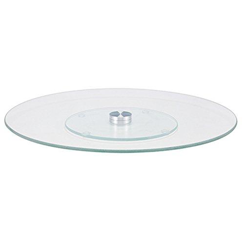 Alzata per dolci, in vetro, girevole, delle dimensioni di 30 (diametro)x 2cm, ideale come piatto o supporto per dolci, biscotti, torte