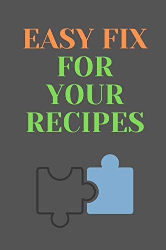 Fantastic Deal! Easy Fix For Your RECIPES: All Purpose  Recipes  6x9 Blank Lined Formated Cooking N...