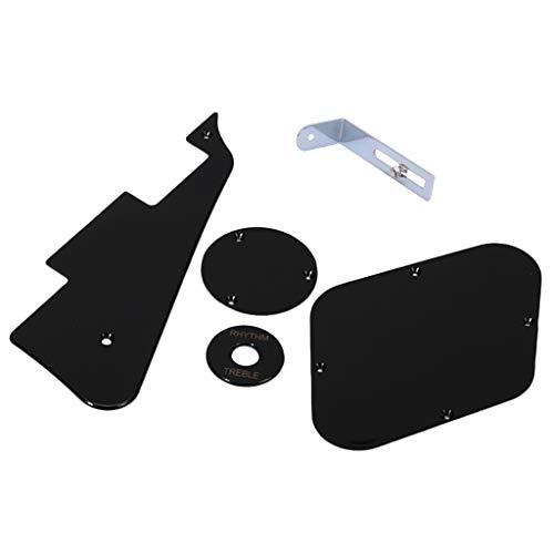 Interruptor Cavidad Scratchplate Negro Cubre Para Guitarra Lp+Cromo Soporte De Golpeador Para...