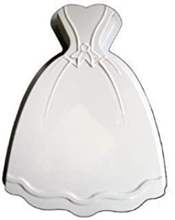 CK Products 49-5202 Plastic Princess Dress Cake Pan, White