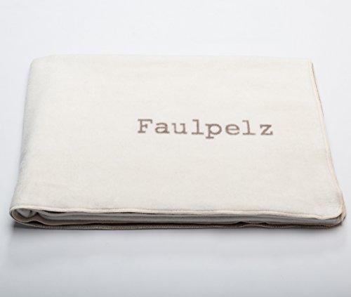 David Fussenegger Verona Wohndecke Faulpelz rohweiß 150/200cm