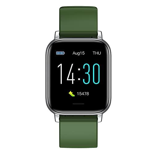 Smart Watch Compatible con iPhone y teléfonos Android Tracker Fitness con monitor de ritmo cardíaco Monitor de sueño y saturación de oxígeno en la sangre 5atm Smartwatch impermeable para mujeres Hombr