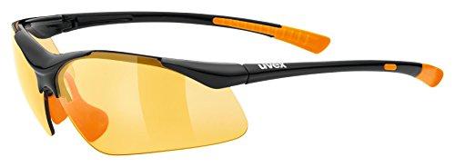 uvex Unisex– Erwachsene, sportstyle 223 Sportbrille, black-orange, one size