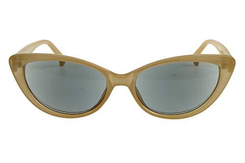 Leesbril met dioptrieën voor vrouwen Cateye Cat Design met case Beige Transparant Glanzend Plastic 1.0 1.5 2.0 2.5 3.0 3.5 Dioptrien 2.5