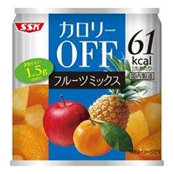 SSK カロリ−OFF フルーツミックス 185g×24個入
