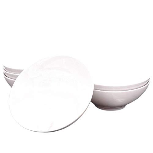 Kahla 55F204A90055C Diner Porzellan Schalen Set weiß Müslischale 6-teilig für 6 Personen 600 ml rund Schüssel Suppenschüssel Obst EIS Salat