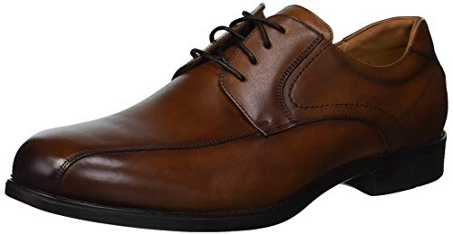 Florsheim Men's Medfield Bike Toe Oxford Dress Shoe, Cognac, 12