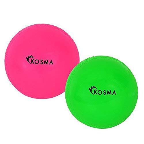 Kosma - Pelotas de críquet (2 unidades), color rosa y verde