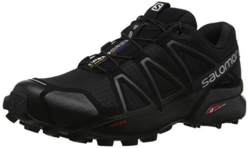 SALOMON Homme Speedcross 4 Chaussures Randonn e, Noir Black Black Black Metallic, 43 1 3 EU