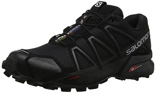 Salomon Speedcross 4, Zapatillas de Trail Running para Hombre, Negro (Black/Black/Black Metallic), 41 1/3 EU