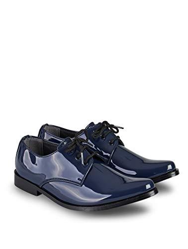 V.C. Festliche Jungen Anzug Schuhe Lackschuhe Kommunionschuhe dunkelblau 33